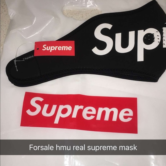 de00b2ac Supreme Accessories | Real Mask W Tag From Stockx | Poshmark